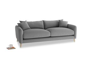 Medium Squishmeister Sofa in Gun Metal brushed cotton