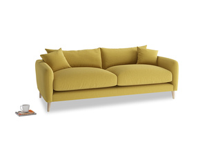 Medium Squishmeister Sofa in Maize yellow Brushed Cotton