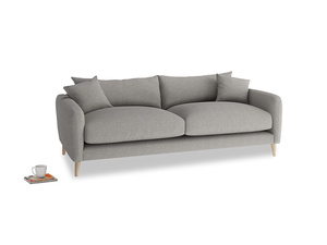 Medium Squishmeister Sofa in Marl grey clever woolly fabric