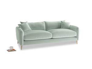 Medium Squishmeister Sofa in Mint clever velvet