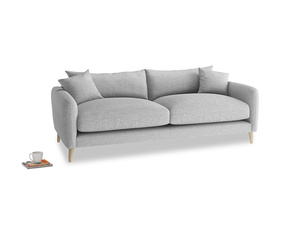 Medium Squishmeister Sofa in Mist cotton mix
