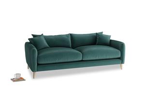 Medium Squishmeister Sofa in Timeless teal vintage velvet
