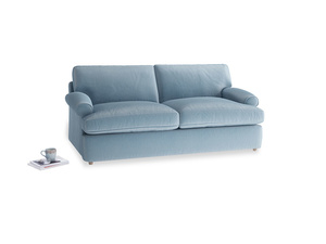 Medium Slowcoach Sofa Bed in Chalky blue vintage velvet