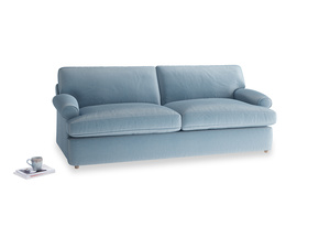 Large Slowcoach Sofa Bed in Chalky blue vintage velvet