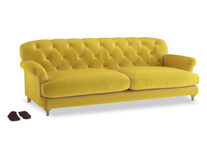 Extra large Truffle Sofa in Bumblebee clever velvet