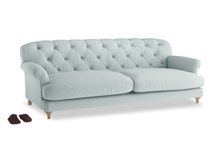 Extra large Truffle Sofa in Duck Egg vintage linen