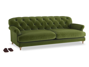 Extra large Truffle Sofa in Good green Clever Deep Velvet