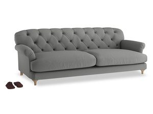 Extra large Truffle Sofa in French Grey brushed cotton