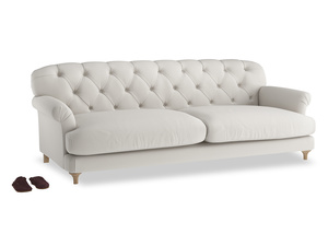 Extra large Truffle Sofa in Moondust grey clever cotton