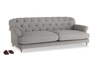Extra large Truffle Sofa in Marl grey clever woolly fabric