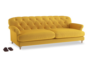 Extra large Truffle Sofa in Pollen Clever Deep Velvet