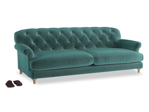 Extra large Truffle Sofa in Real Teal clever velvet