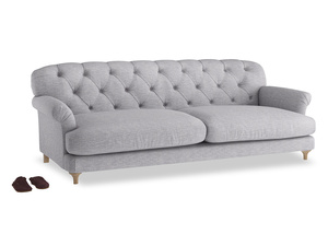 Extra large Truffle Sofa in Storm cotton mix