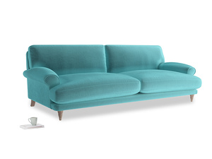 Extra large Slowcoach Sofa in Belize clever velvet