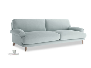 Extra large Slowcoach Sofa in Duck Egg vintage linen