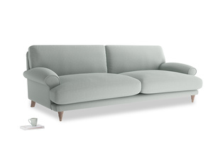 Extra large Slowcoach Sofa in French blue brushed cotton
