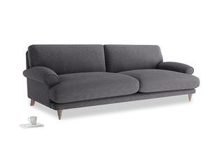 Extra large Slowcoach Sofa in Lead cotton mix