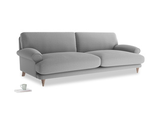 Extra large Slowcoach Sofa in Magnesium washed cotton linen