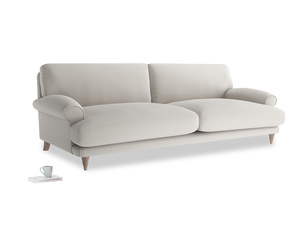 Extra large Slowcoach Sofa in Moondust grey clever cotton