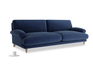 Extra large Slowcoach Sofa in Ink Blue wool