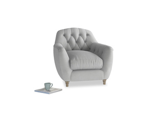 Butterbump Armchair in Pewter Clever Softie
