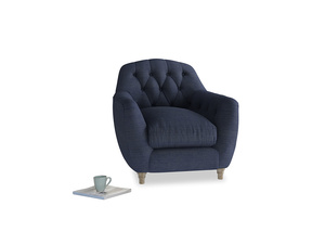 Butterbump Armchair in Seriously Blue Clever Softie