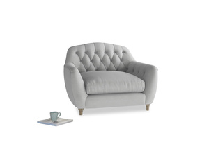 Love Seat Butterbump Love Seat in Pewter Clever Softie