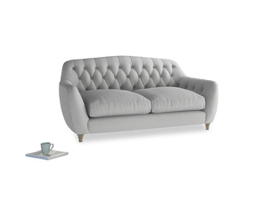 Medium Butterbump Sofa in Pewter Clever Softie