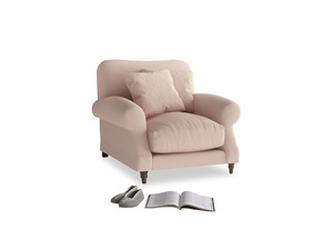 Crumpet Armchair in Pink clay Clever Softie