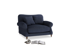 Crumpet Love seat in Seriously Blue Clever Softie