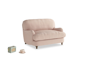 Jonesy Love seat in Pink clay Clever Softie