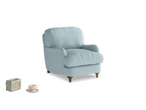 Jonesy Armchair in Powder Blue Clever Softie
