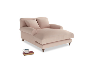 Crumpet Love Seat Chaise in Pink clay Clever Softie