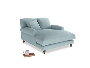 Crumpet Love Seat Chaise in Powder Blue Clever Softie