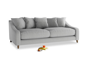 Large Oscar Sofa in Pewter Clever Softie