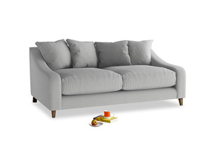 Medium Oscar Sofa in Pewter Clever Softie