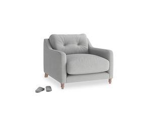 Slim Jim Armchair in Pewter Clever Softie