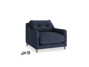 Slim Jim Armchair in Seriously Blue Clever Softie