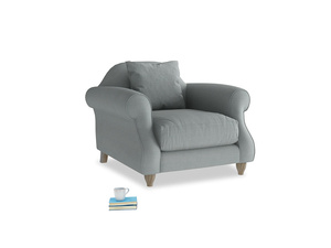 Sloucher Armchair in Armadillo Clever Softie