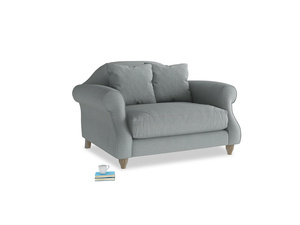 Sloucher Love seat in Armadillo Clever Softie