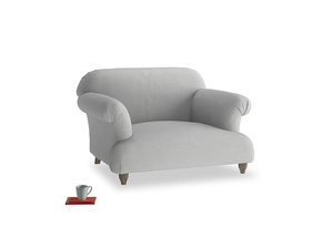 Soufflé Love seat in Pewter Clever Softie