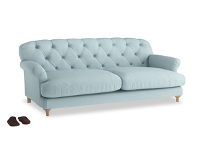 Large Truffle Sofa in Powder Blue Clever Softie