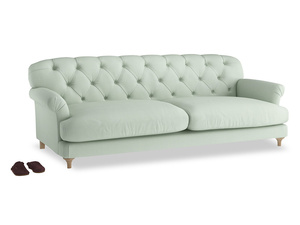 Extra large Truffle Sofa in Soft Green Clever Softie