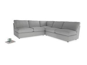 Even Sided  Chatnap modular corner storage sofa in Pewter Clever Softie
