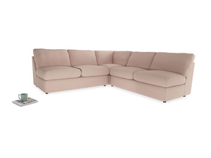 Even Sided  Chatnap modular corner storage sofa in Pink clay Clever Softie
