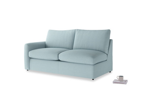 Chatnap Sofa Bed in Powder Blue Clever Softie with a left arm