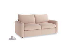 Chatnap Sofa Bed in Pink clay Clever Softie with both arms