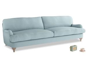 Extra large Jonesy Sofa in Powder Blue Clever Softie