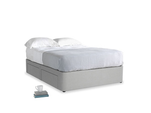 Double Tight Space Storage Bed in Pewter Clever Softie