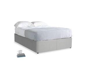 Double Store Storage Bed in Pewter Clever Softie